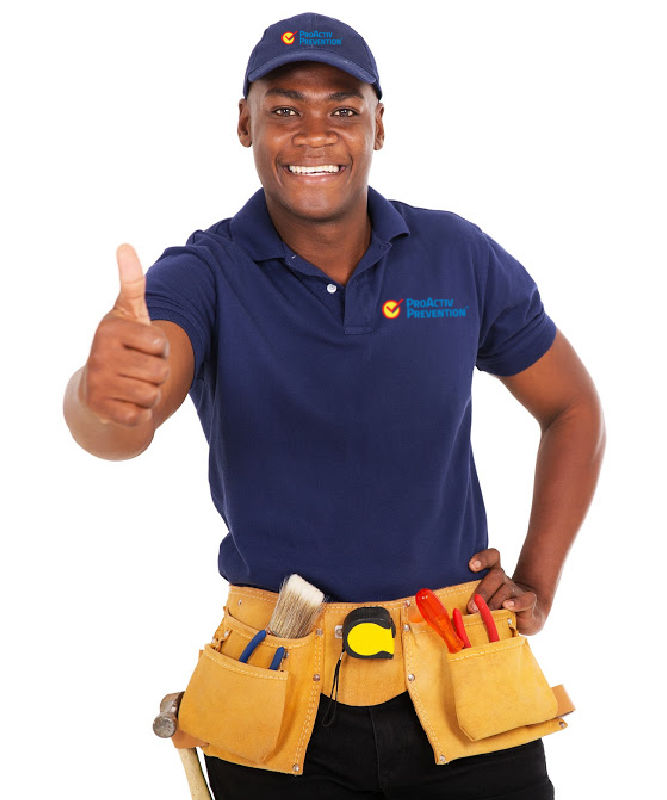 Local Chicago handyman service providing a thumbs up to a client.